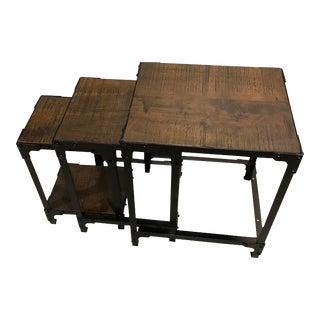 Industrial Modern Tribeca Nesting Tables - Set of 3