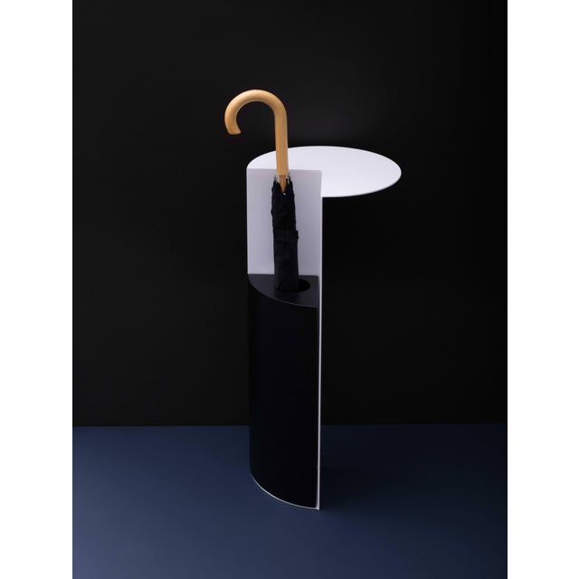 Umbrella Stand With Shelf in Blackened Steel and Copper by Birnam Wood Studio For Sale In Philadelphia - Image 6 of 13