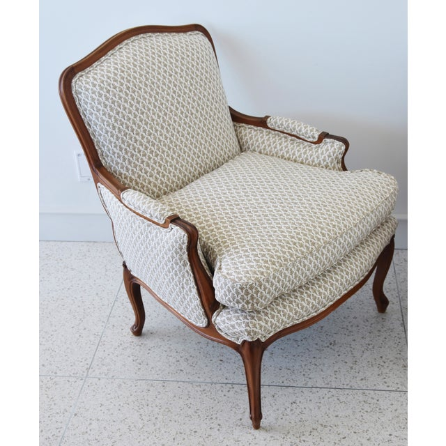 Vintage French-Style Newly Upholstered Bergere Chairs - Pair For Sale - Image 9 of 13