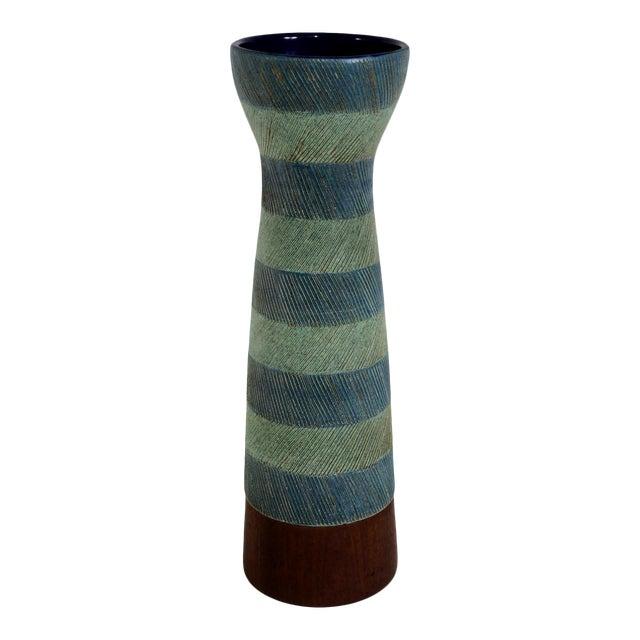 Bitossi for Raymor Walnut Base Vase - Image 1 of 6