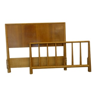 Mid-Century Modern Gibbings Twin Headboard and Footboard Set - 2 Pieces For Sale
