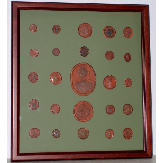 Fine Collection of 19th Century Wax Seals For Sale - Image 12 of 12