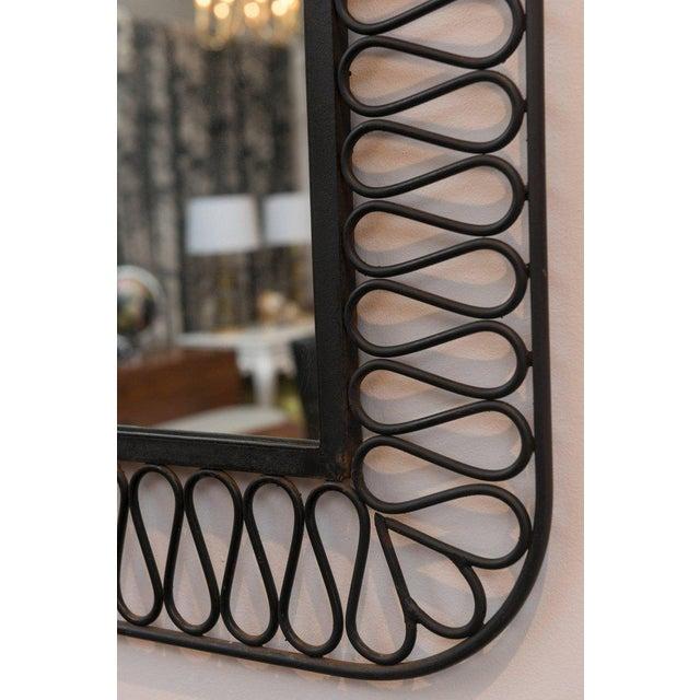 Contemporary Decorative Black Iron Mirror For Sale - Image 3 of 7