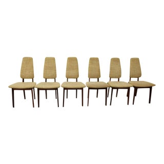 Helge Vestergaard Jensen Danish Modern Rosewood Dining Chairs - Set of 6 For Sale