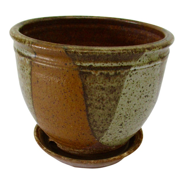 Robert Maxwell Style Glazed Planter For Sale