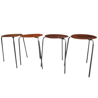 Set of Four Mid Century Modern Nesting Tables / Tablettes by Tony Paul For Sale