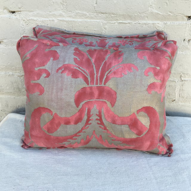 Fortuny Pink & Gold Pillows - A Pair - Image 2 of 5