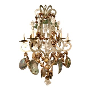 Marjorie Skorous for Currey & Co. Silvio Shell Chandelier For Sale