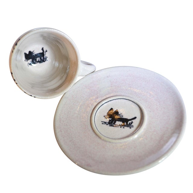 Dutch Canal Home Design Handmade Espresso Cups With Saucers - Set of 4 For Sale - Image 4 of 7