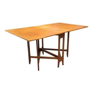 1960s Vintage Teak Drop Leaf Maria Dining Table For Sale