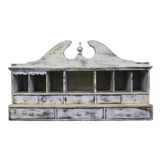 Rustic Whitewashed Organizer
