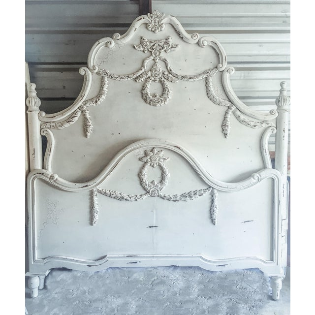 French Cottage Style King Bed Frame - Image 2 of 11