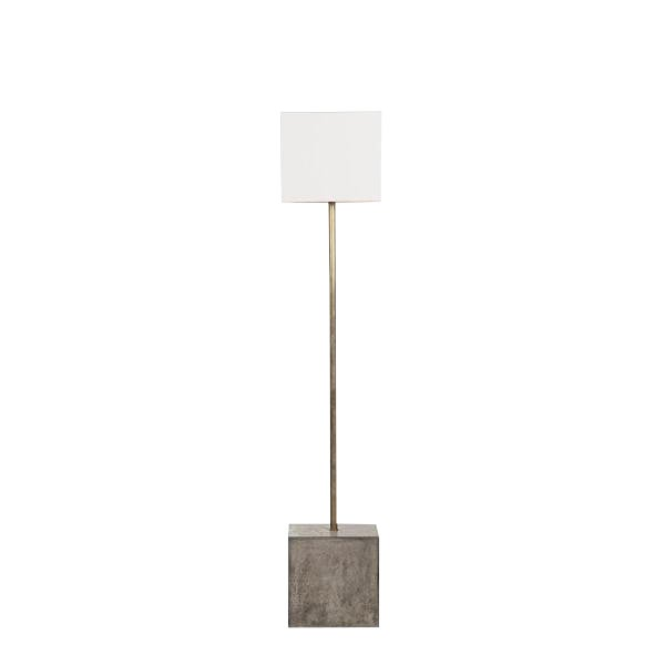 Nellcote Square Floor Lamp With White Shade For Sale