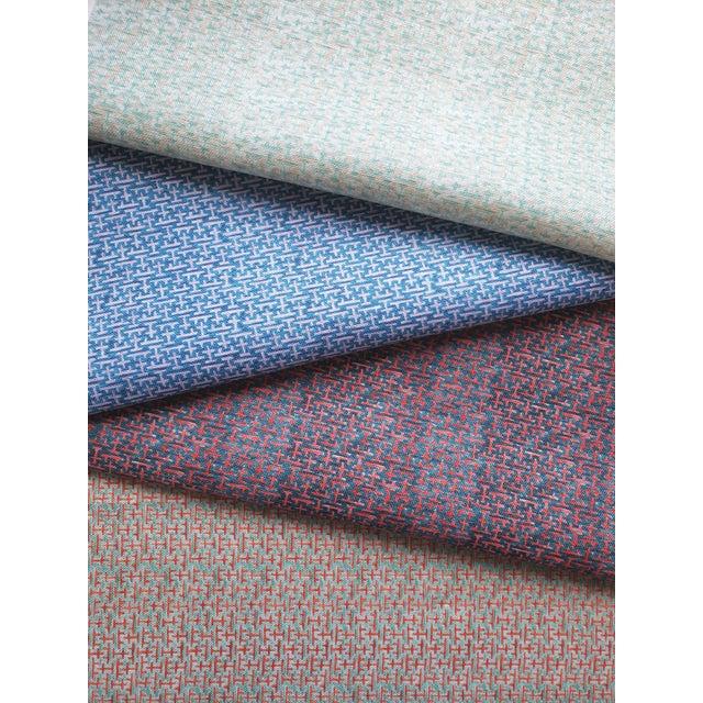 Ferran Ming Fret Fabric, Sample, Ecru in Belgian Linen For Sale - Image 4 of 5