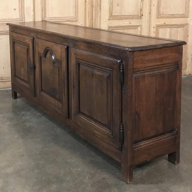 Country 18th Century Country French Provincial Low Buffet For Sale - Image 3 of 13