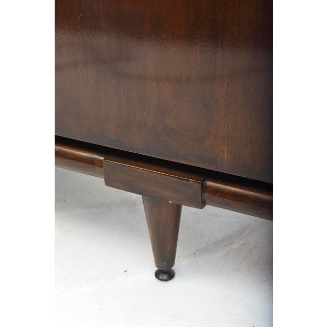 Fine American Modern Dark Walnut Executive Desk, Custom Made by Monteverdi Young For Sale - Image 9 of 10