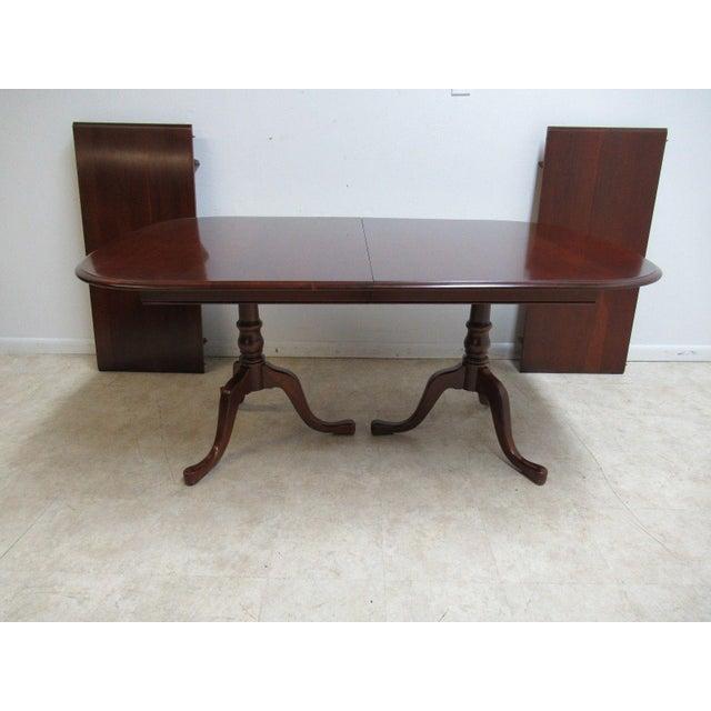 Pennsylvania House Cherry Pedestal Dining Room Conference Table - Pedestal conference table