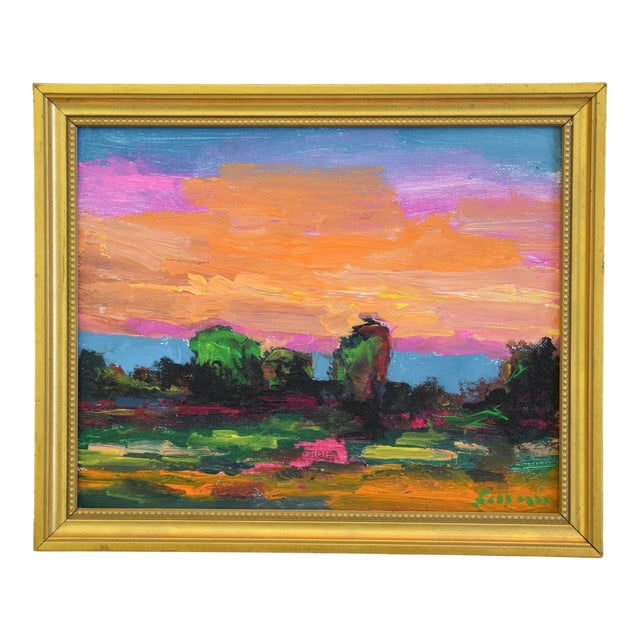 Juan Pepe Guzman Ojai California Sunset & Landscape Painting For Sale