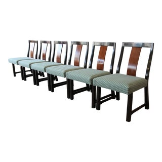 Edward Wormley for Dunbar Mid-Century Modern Dining Chairs, Set of 6 For Sale