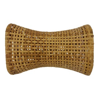 Vintage Chinese Wicker Money Pillow For Sale