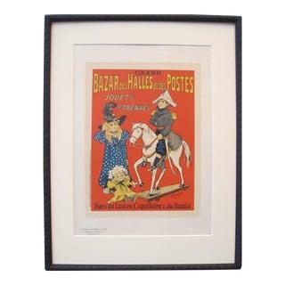1890's Maitre De L'Affiche, Framed, Plate #207, Gift for a Christening For Sale