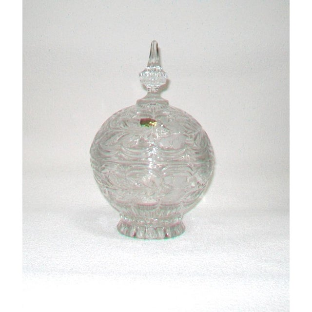 European Crystal Domed Lidded Dish For Sale In Detroit - Image 6 of 6