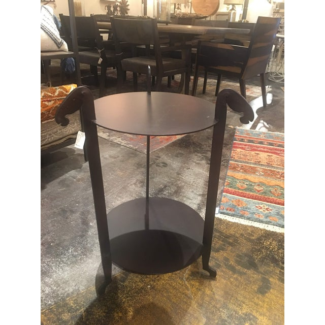 Sarreid Forged Horse Leg Side Table For Sale - Image 9 of 13