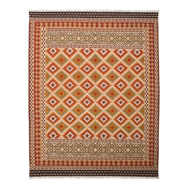 "Kashkoli Turkish Kilim Rug - 9'4"" X 11'11"" - Image 1 of 3"