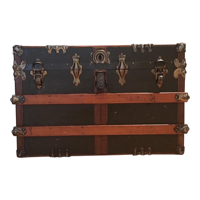 Antique English Steamer Trunk - Image 1 of 10