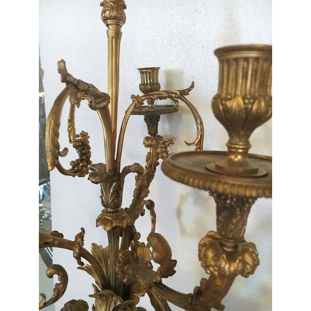 Bronze Gilt Bronze Double Figure Candelabras - A Pair For Sale - Image 7 of 10