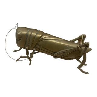 Vintage Brass Grasshopper Figurine For Sale