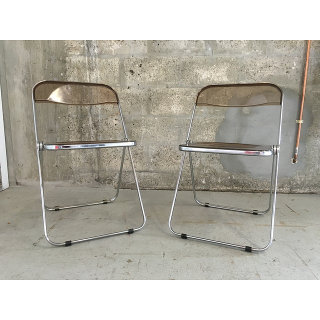 Plia Folding Chairs by Giancarlo Piretti - A Pair - Image 3 of 11