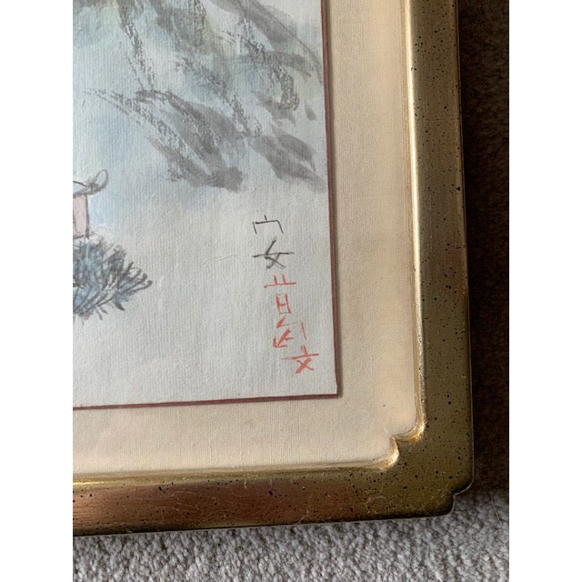 Early 20th Century Antique Landscape Watercolor Paintings - Set of 4 For Sale - Image 9 of 10
