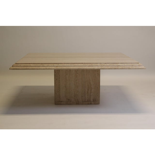 Mid-Century Modern Modern Travertine Coffee Table For Sale - Image 3 of 6