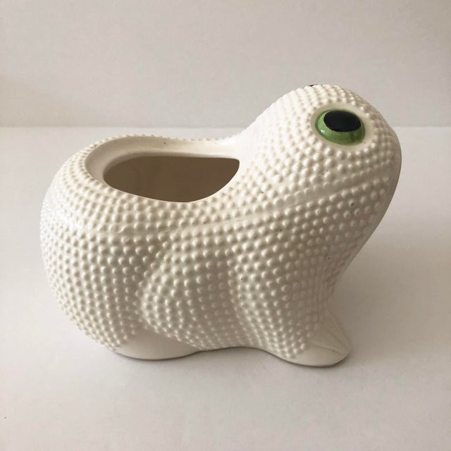 Mid 20th Century Vintage Ceramic Frog Planter For Sale - Image 5 of 11