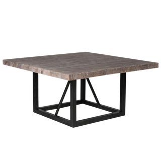 Nina Pine & Iron Dining Table For Sale