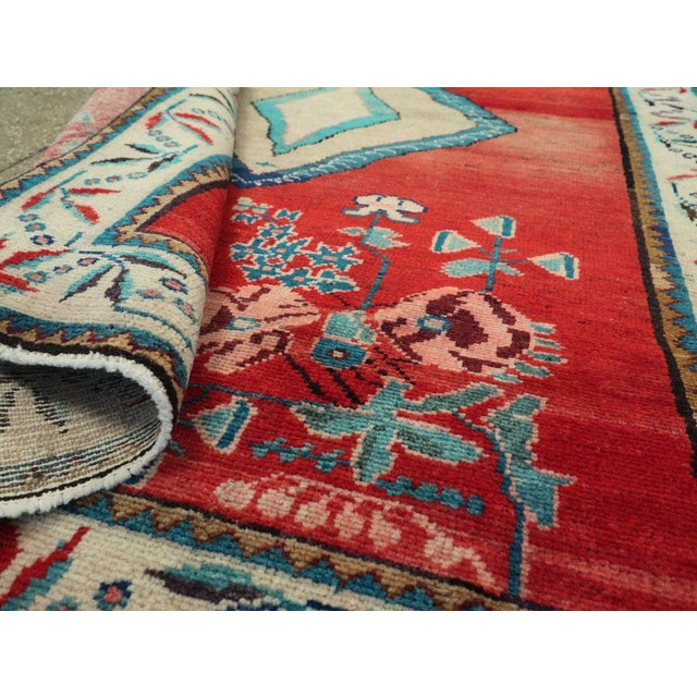"Vintage Persian Mahal Rug - Size: 3' 8"" X 5' 1"" For Sale - Image 9 of 10"