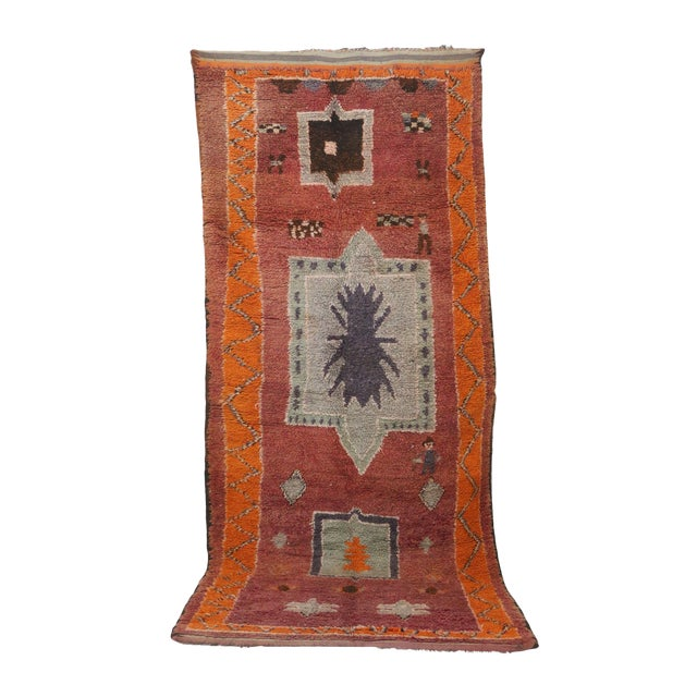 "1970s Moroccan Boujad, 5'10"" X 13'3"" For Sale"