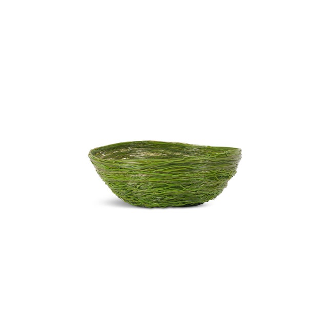 Gaetano Pesce Green Resin Spaghetti Bowl for Fish Design For Sale - Image 6 of 7