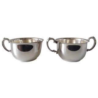 Silverplate Sugar & Creamer Set For Sale