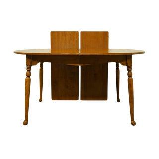 "Ethan Allen Heirloom Nutmeg Maple 77"" Dining Table - 10-6093 For Sale"