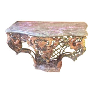 1900 French Wrought Iron Console