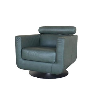 Modern Natuzzi Italia Swivel Suad Armchair For Sale