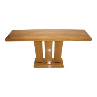Vintage Karl Springer Style Console Table Satinwood - 2 Are Available For Sale