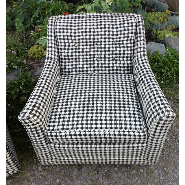 Kroehler Mid-Century Houndstooth Chairs - A Pair For Sale - Image 5 of 11