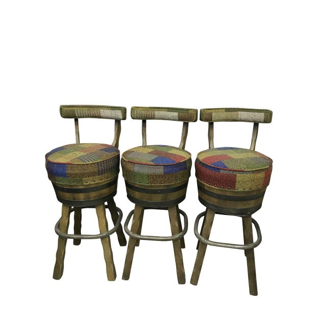 Mid Century Bar Stools - Set of 3 For Sale In Baltimore - Image 6 of 6