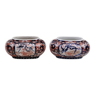 Japanese Imari Jardinieres, Pair, For Sale