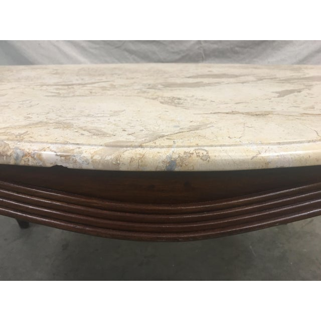 Early 20th Century French Louis XV Style Marble Top Walnut Coffee Table For Sale - Image 5 of 10