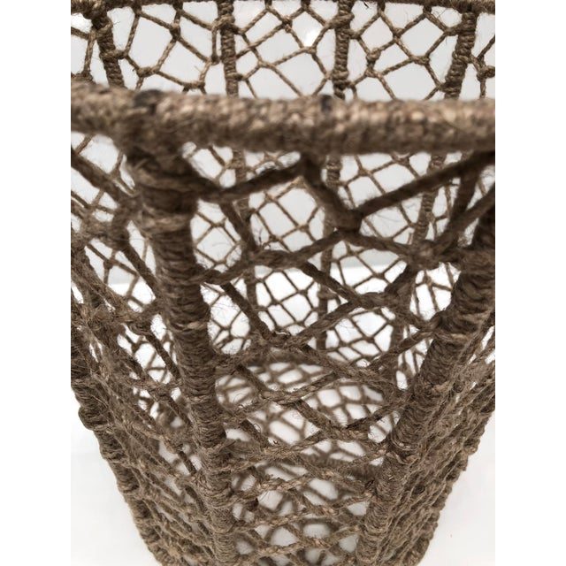 Textile Vintage Handcrafted Woven Jute Rope Buckets - Set of 3 For Sale - Image 7 of 8