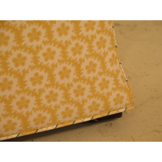 Textile Calico Corners Custom Upholstered Ottomans - A Pair For Sale - Image 7 of 10